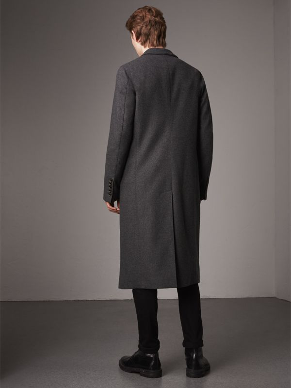 Melange Wool Blend Coat in Dark Grey - Men | Burberry - cell image 2
