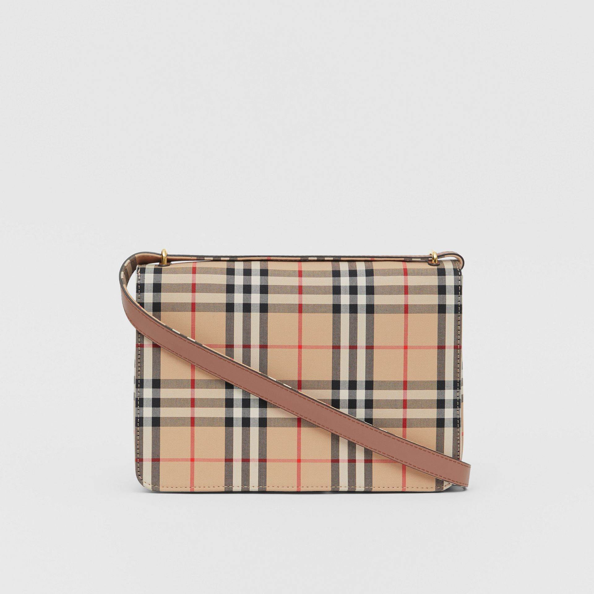 The Medium Vintage Check D-ring Bag in Archive Beige - Women | Burberry - gallery image 5