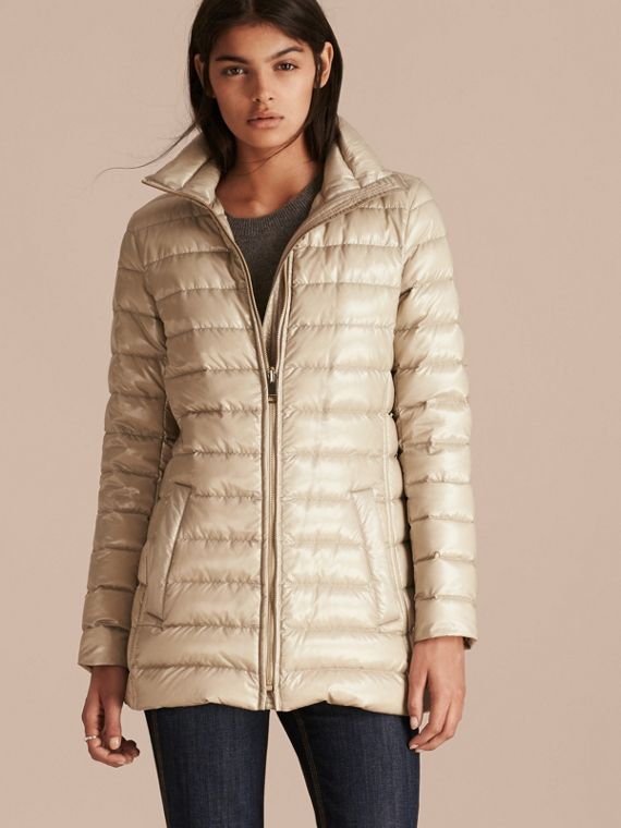 Fur-trimmed Parka with Detachable Down-filled Jacket in Sisal - cell image 2