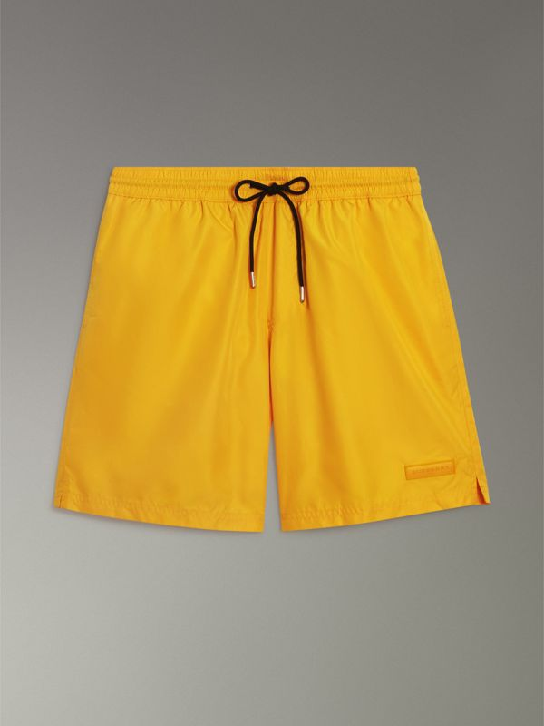 Drawcord Swim Shorts in Bright Yellow - Men | Burberry - cell image 3