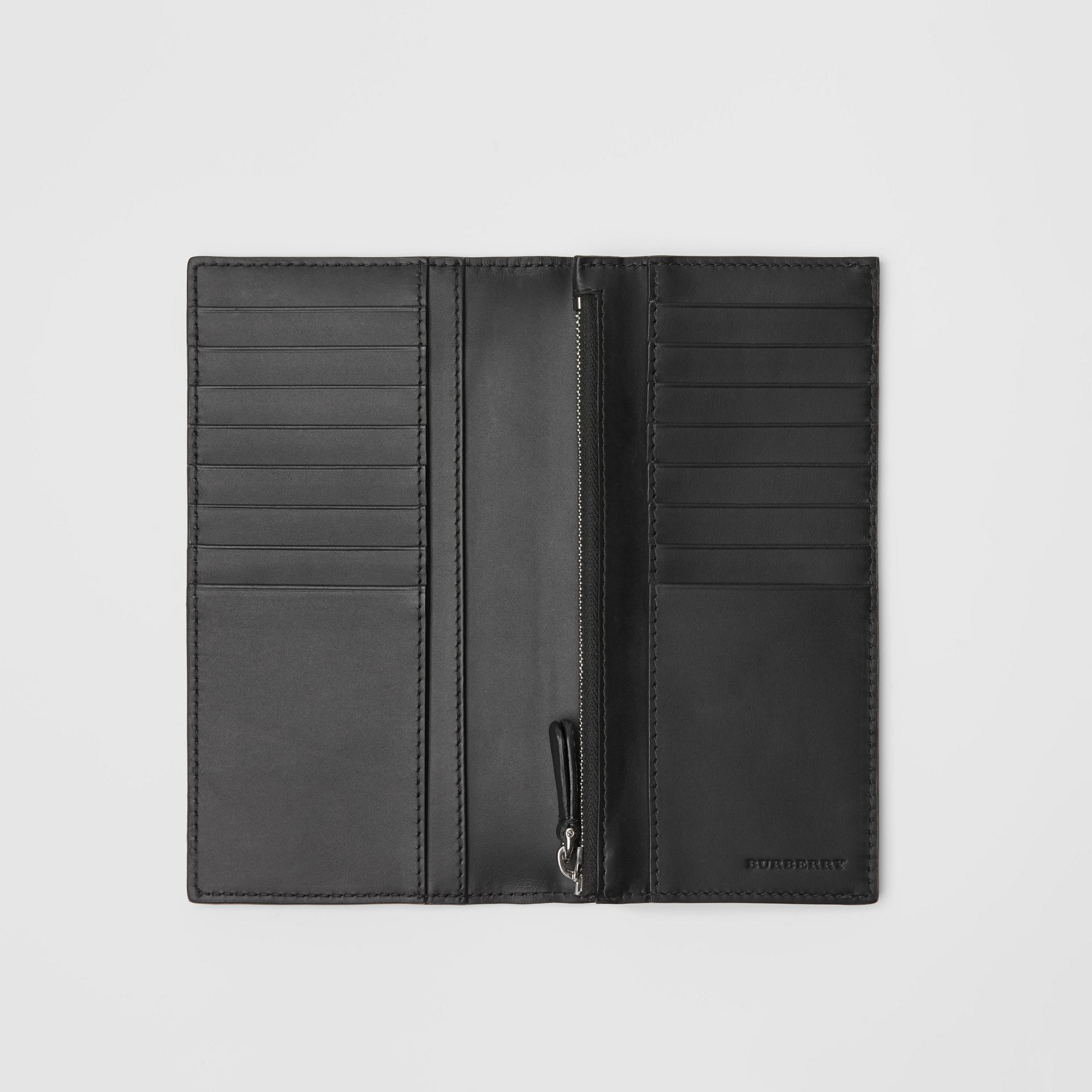 London Leather Continental Wallet in Black - Men | Burberry - gallery image 3