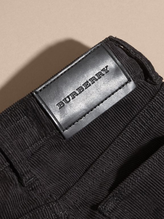 Jeans in corduroy stretch (Nero) | Burberry - cell image 1