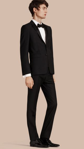 Slim Fit Wool Mohair Half-canvas Tuxedo