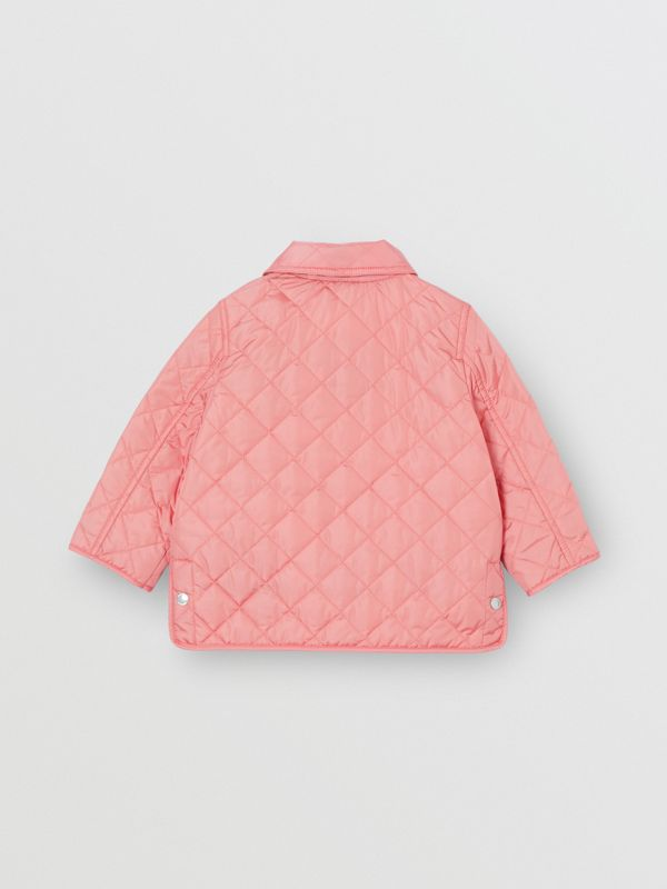 Lightweight Diamond Quilted Jacket in Dusty Pink - Children | Burberry - cell image 3