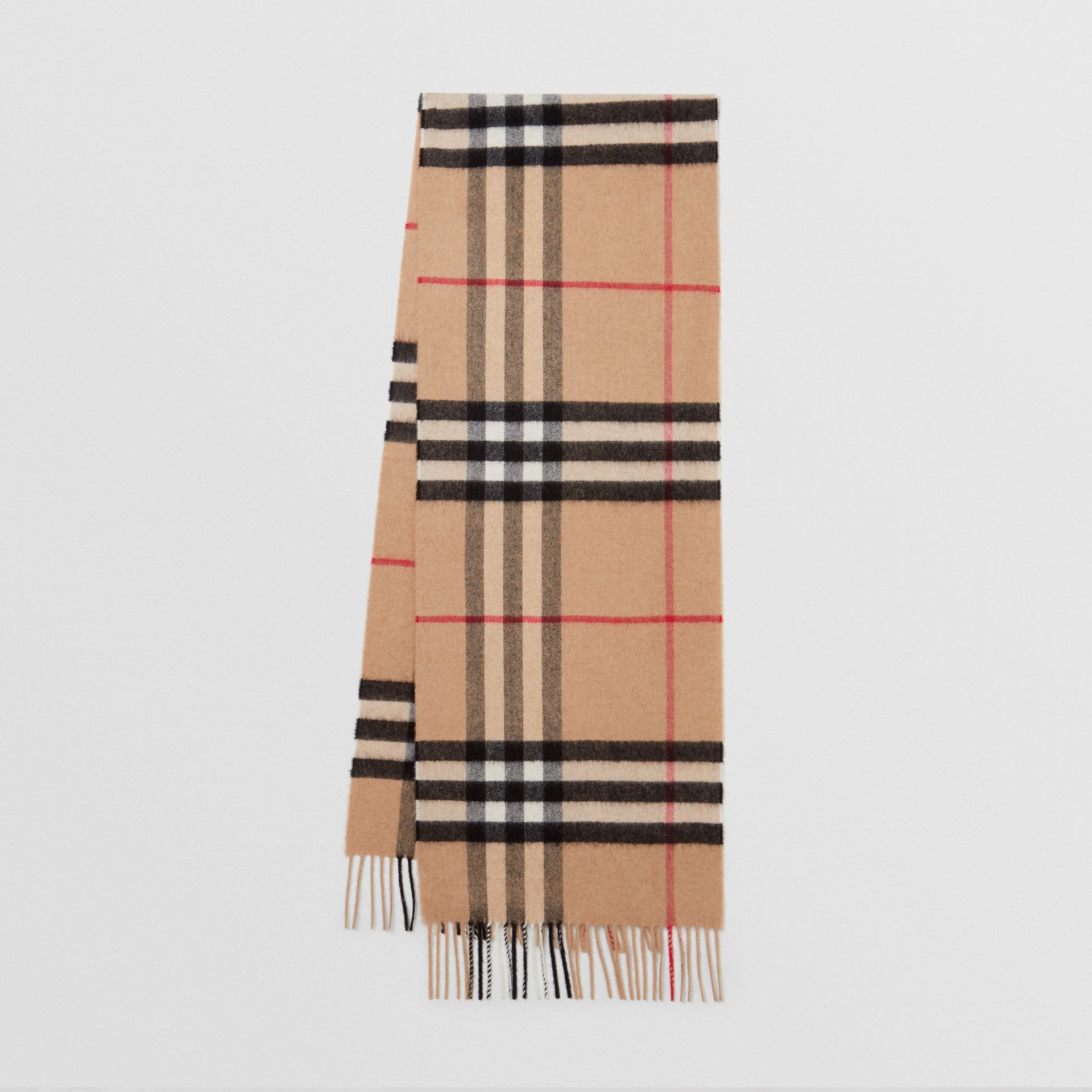 bb98a374dd48d The Classic Check Cashmere Scarf in Camel | Burberry United States -  gallery image 0