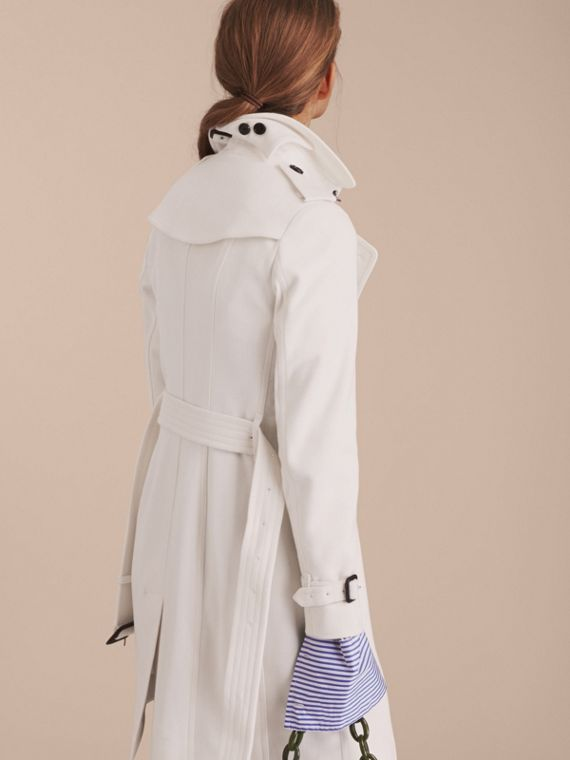 Sandringham Fit Cashmere Trench Coat in White - cell image 2