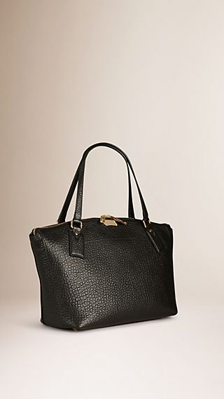 Medium Signature Grain Leather Tote Bag