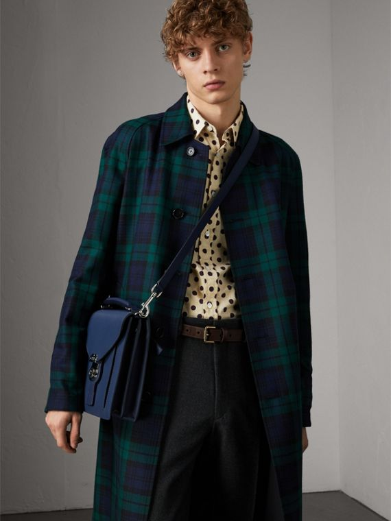 The Small DK88 Satchel in Ink Blue - Men | Burberry - cell image 2