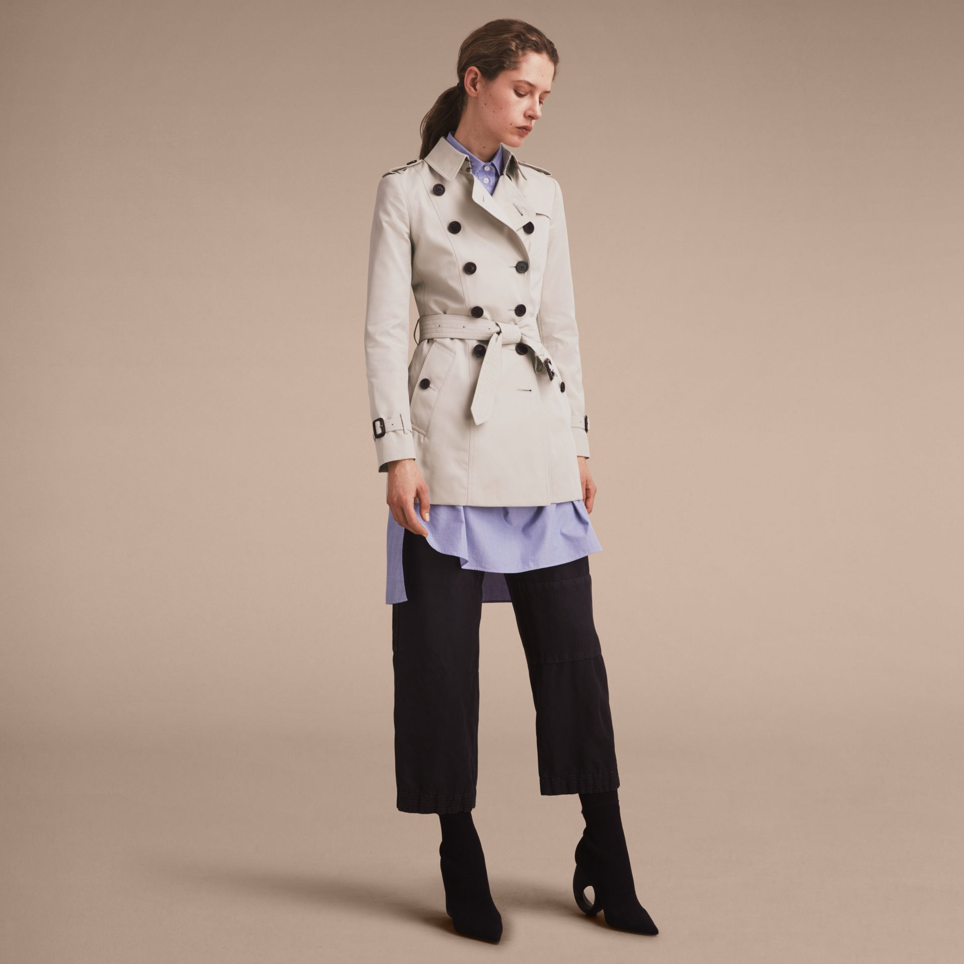 Stone The Chelsea – Short Heritage Trench Coat Stone - gallery image 8