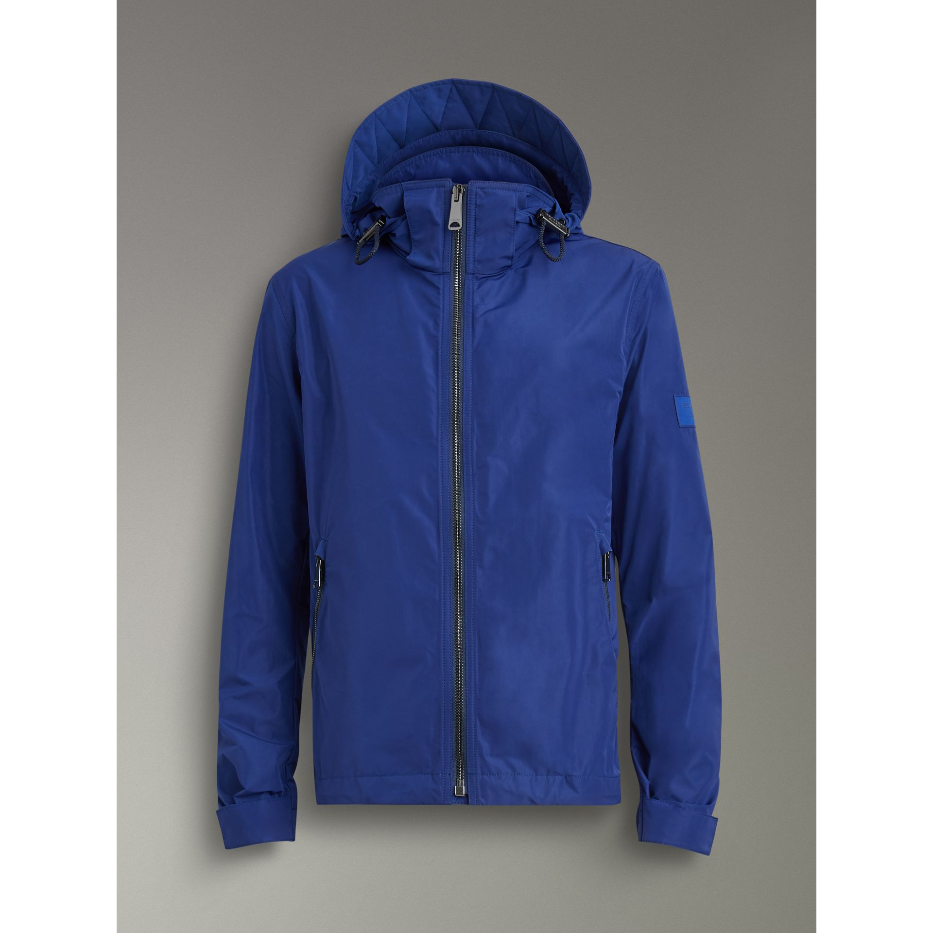 Packaway Hood Showerproof Jacket in Jet Blue - Men | Burberry United States - gallery image 3