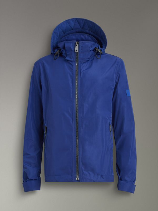 Packaway Hood Showerproof Jacket in Jet Blue - Men | Burberry United Kingdom - cell image 3