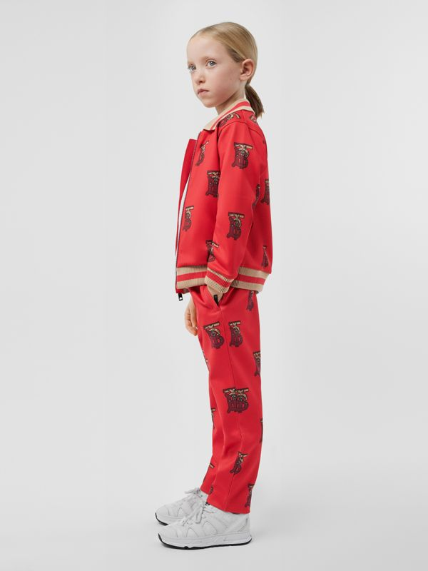 Monogram Motif Neoprene Trackpants in Bright Red | Burberry - cell image 2