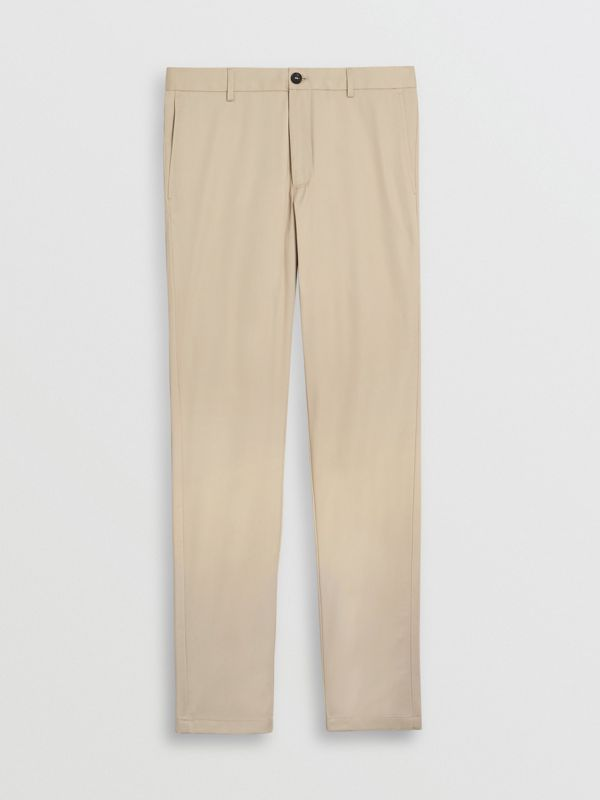 Slim Fit Cotton Chinos in Stone - Men | Burberry United Kingdom - cell image 3