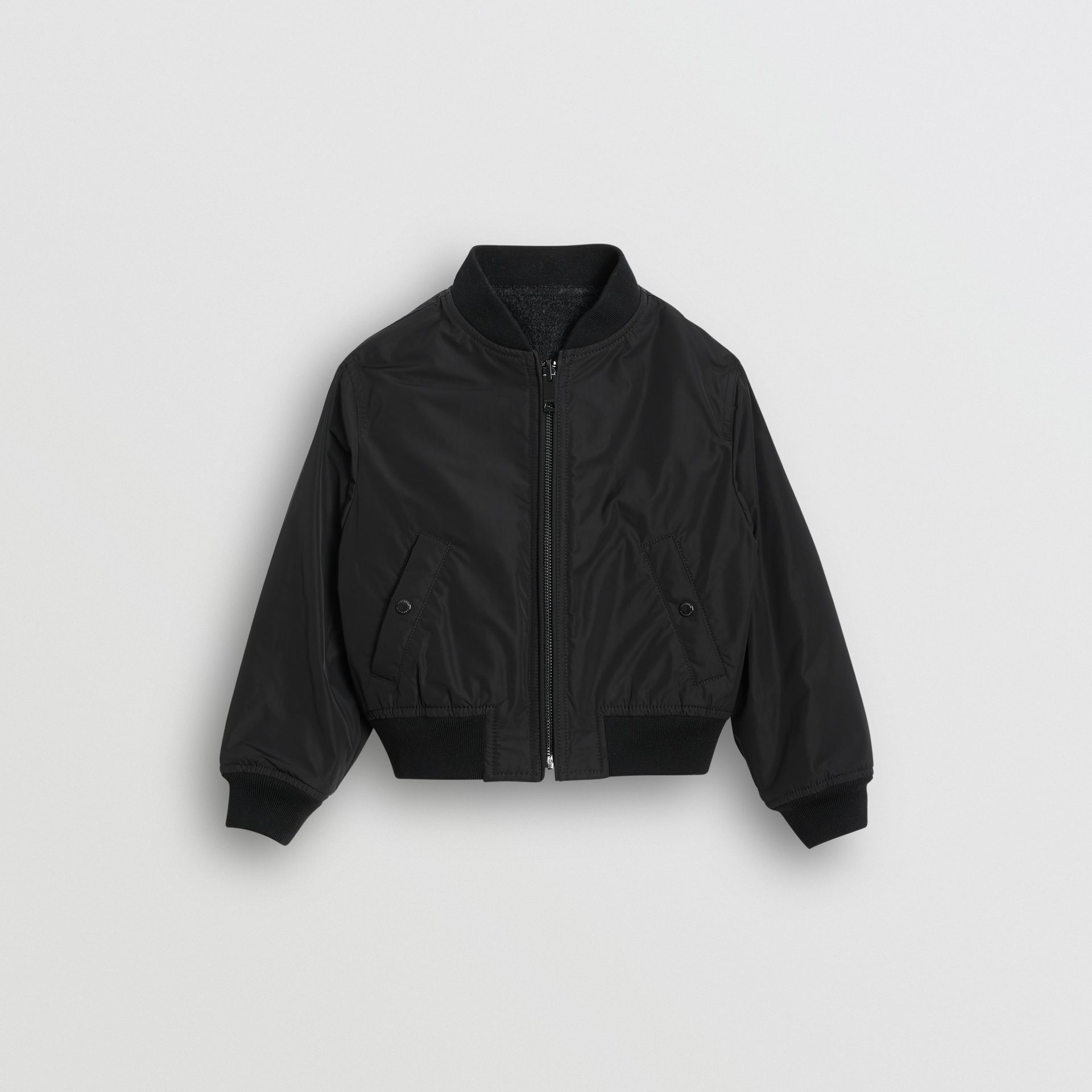 Logo Print Shape-memory Taffeta Bomber Jacket in Dark Grey | Burberry United States - gallery image 0