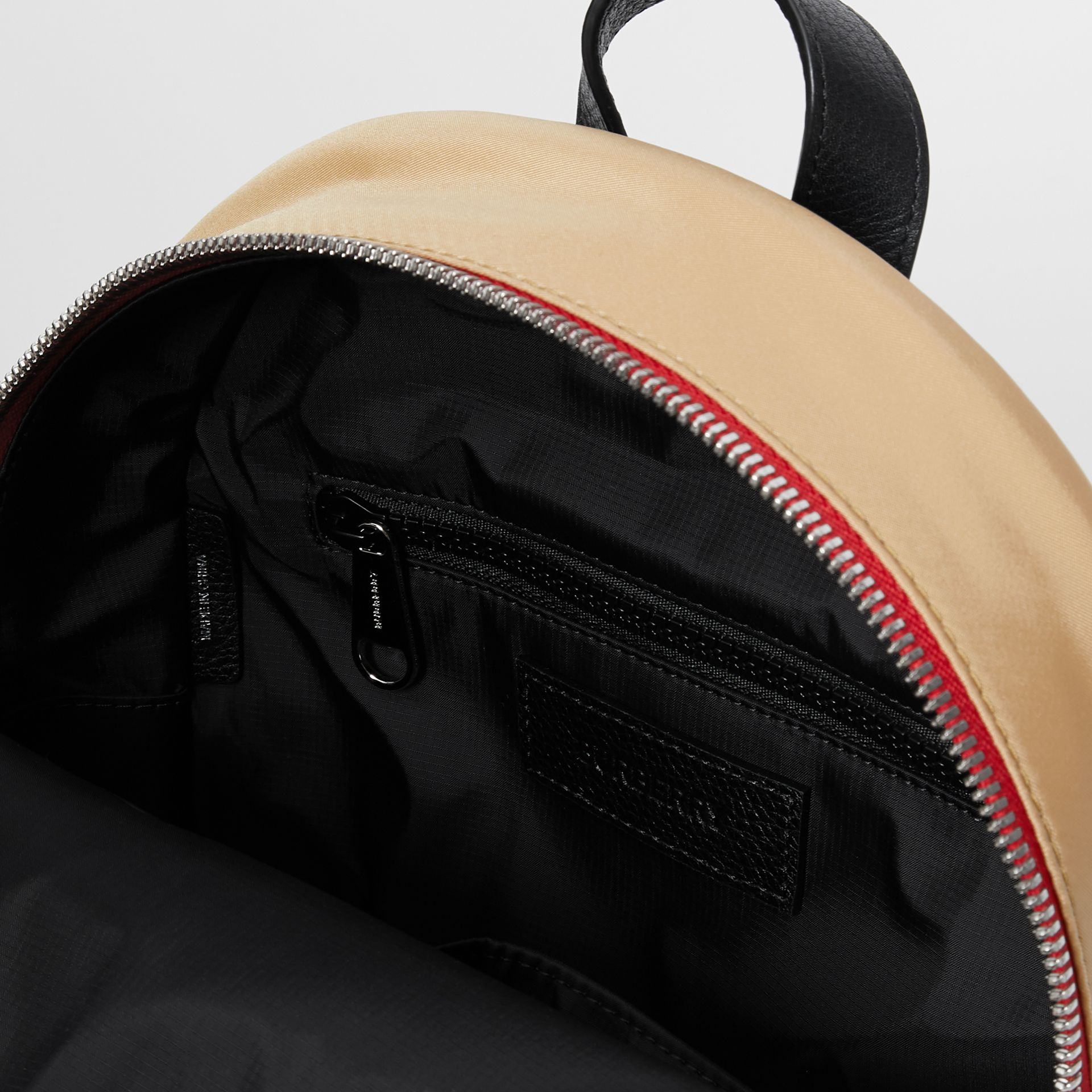 Logo Detail Icon Stripe Nylon Backpack in Archive Beige - Children | Burberry - gallery image 3