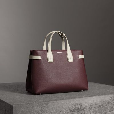 The Medium Banner In Two-Tone Leather in Pink