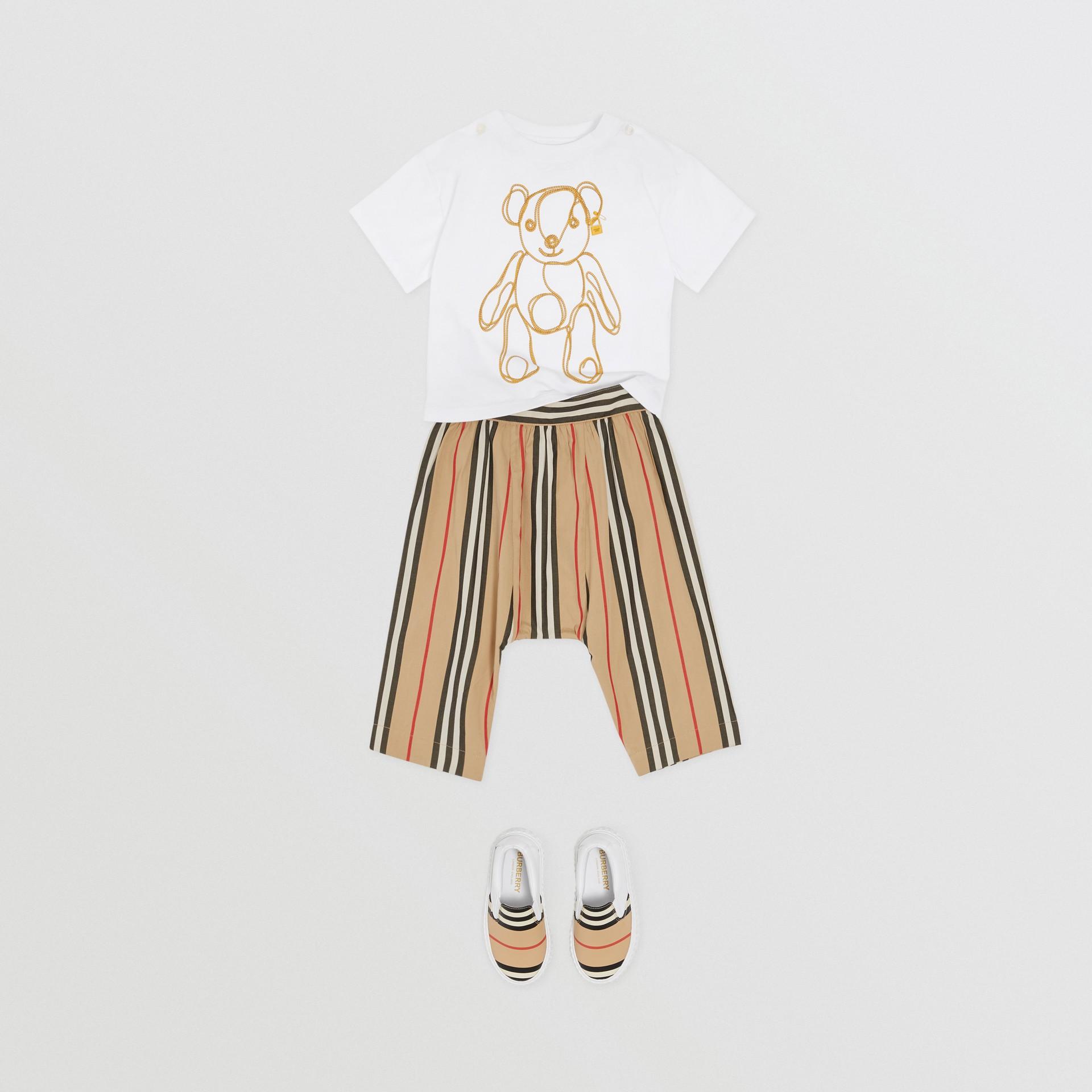 Pantalon en popeline de coton à rayures iconiques (Beige D'archive) - Enfant | Burberry Canada - photo de la galerie 2
