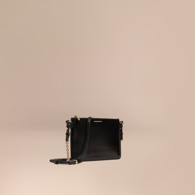 BURBERRY Patent London Leather Clutch Bag