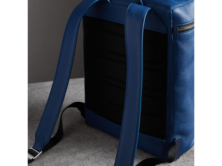 Zip-top Leather Backpack in Bright Ultramarine - Men | Burberry - cell image 4