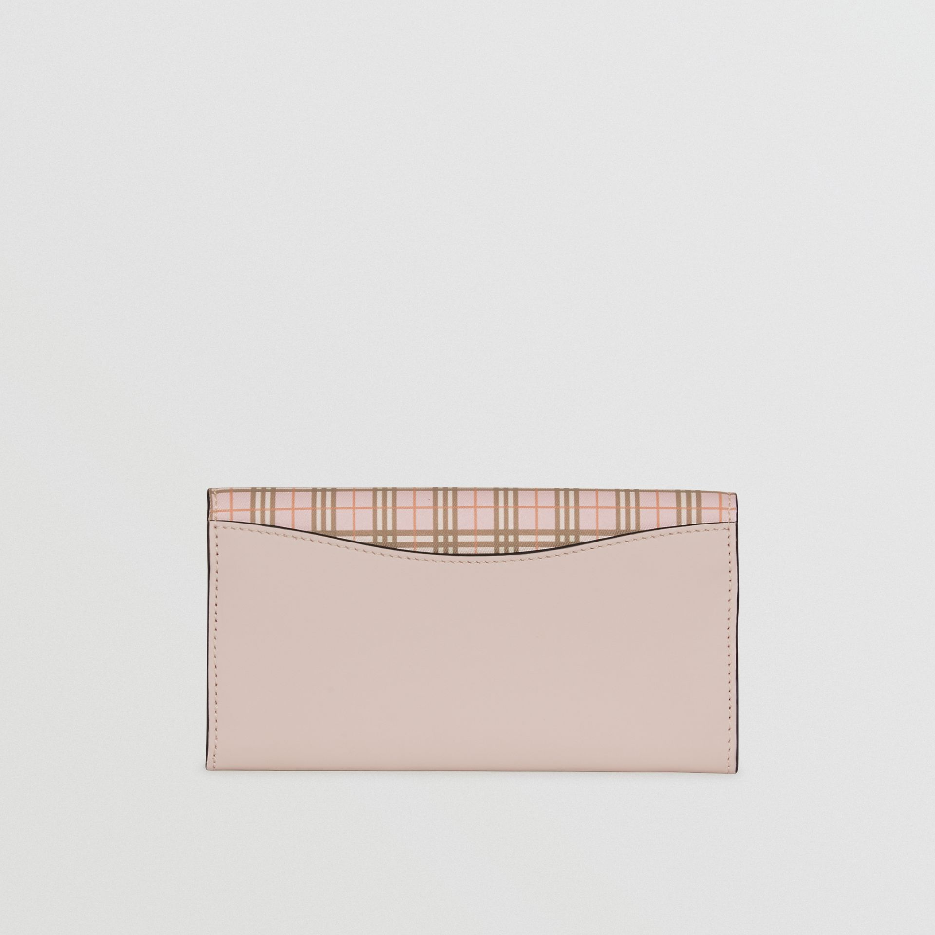 Small Scale Check and Leather Continental Wallet in Ice Pink - Women | Burberry - gallery image 5