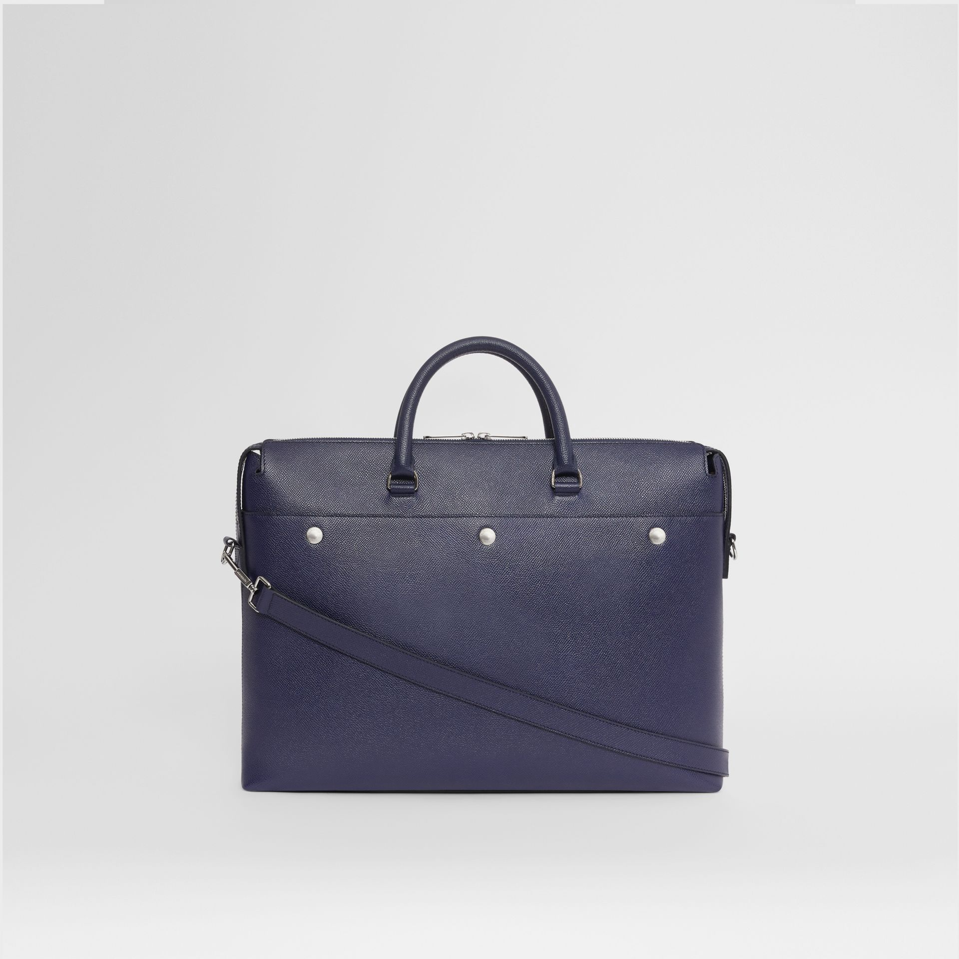 Triple Stud Grainy Leather Briefcase in Regency Blue - Men | Burberry - gallery image 7