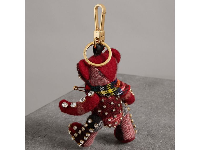 Thomas Bear Charm with Kilt Pin in Parade Red - Women | Burberry - cell image 2