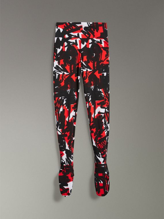 Leggings mit Graffiti-Muster (Leuchtendes Rot) - Damen | Burberry - cell image 3