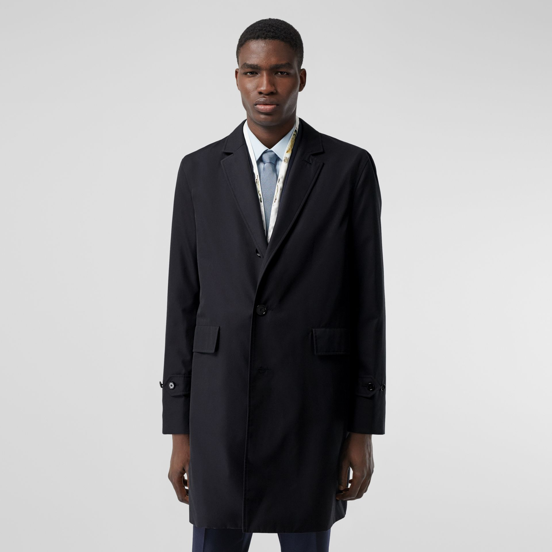 Cotton Gabardine Lab Coat in Midnight Navy - Men | Burberry - gallery image 6