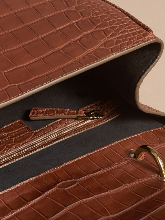 The Medium DK88 Top Handle Bag in Alligator in Tan - Women | Burberry - cell image 3