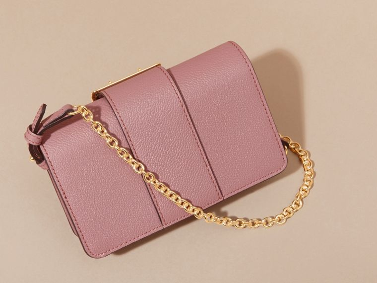 The Mini Buckle Bag in Grainy Leather in Dusty Pink - Women | Burberry Canada - cell image 4