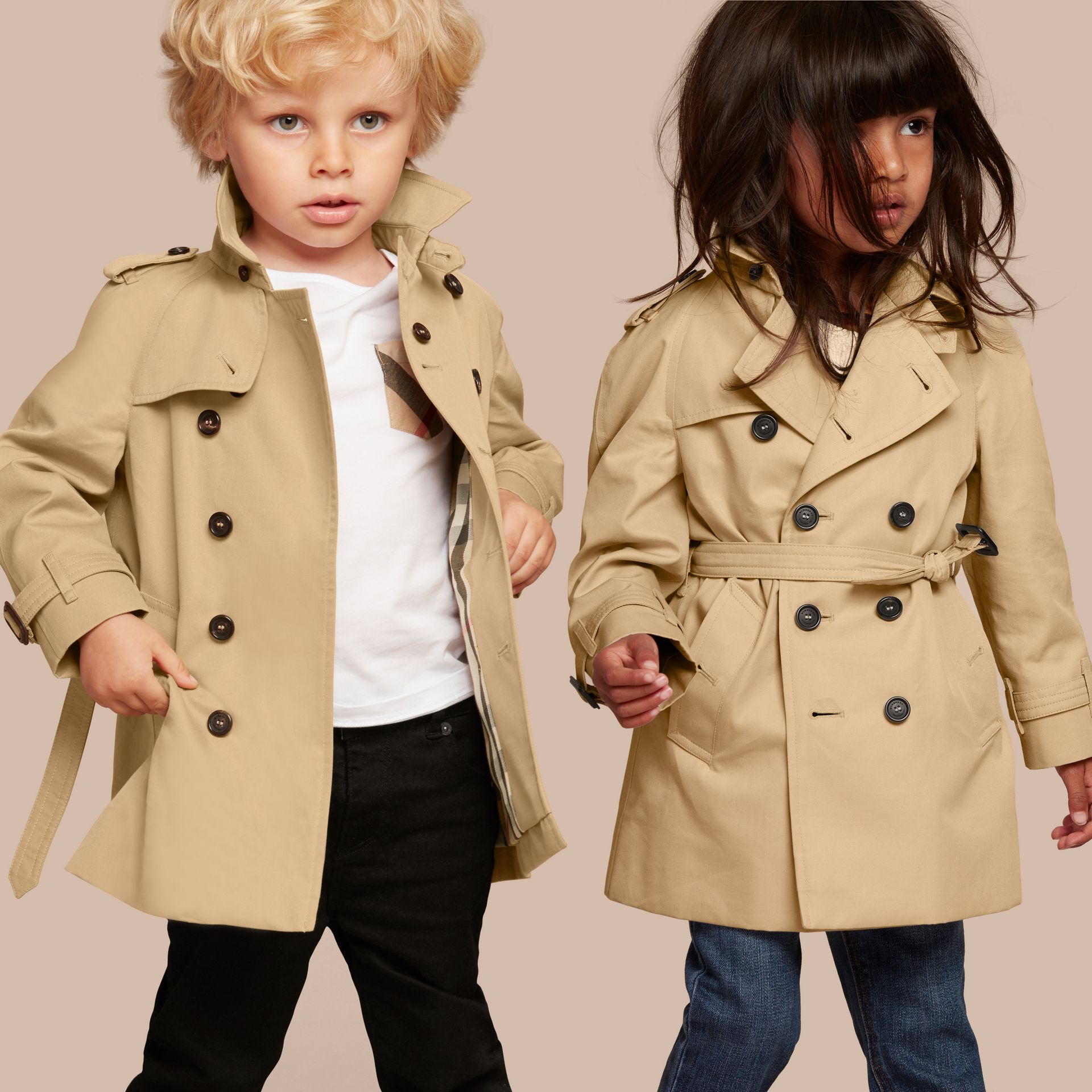 Honey The Wiltshire – Heritage Trench Coat Honey - gallery image 1