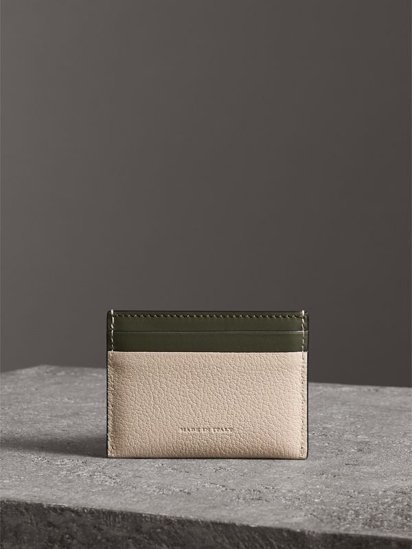 Two-tone Leather Card Case in Stone | Burberry Australia - cell image 2
