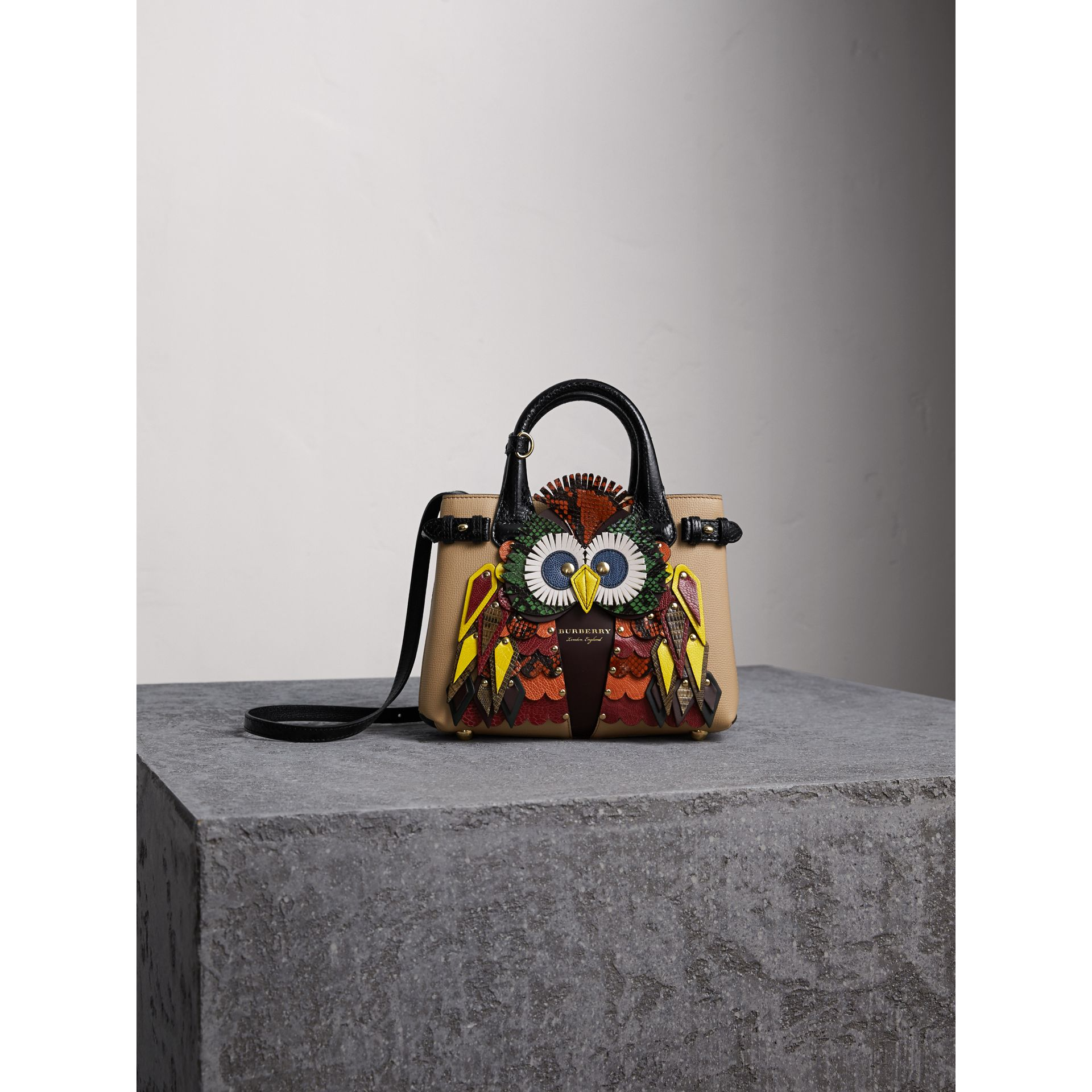 The Small Banner in Leather with Beasts Motif - Women | Burberry - gallery image 7