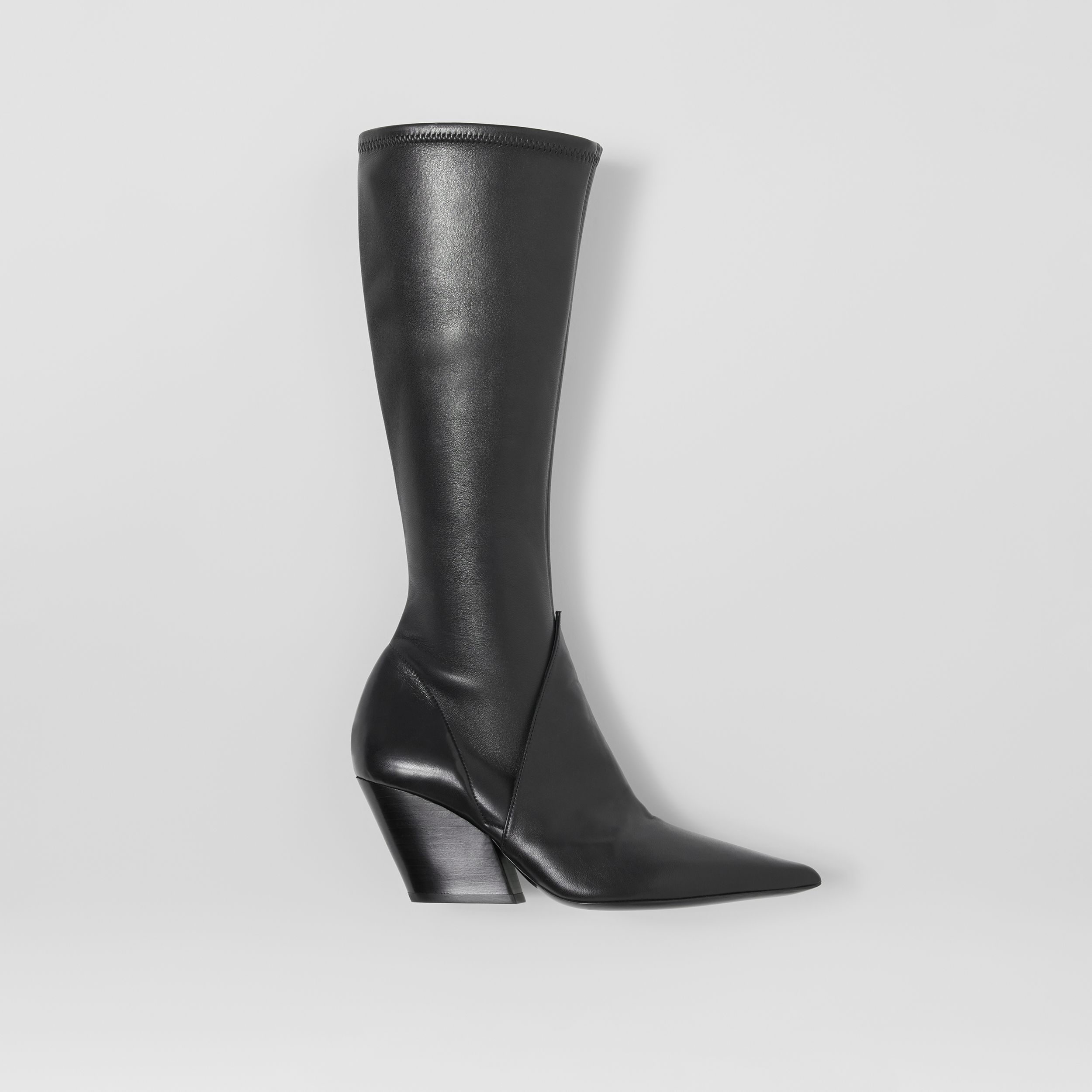 Panelled Lambskin Knee-high Boots in Black - Women | Burberry - 1