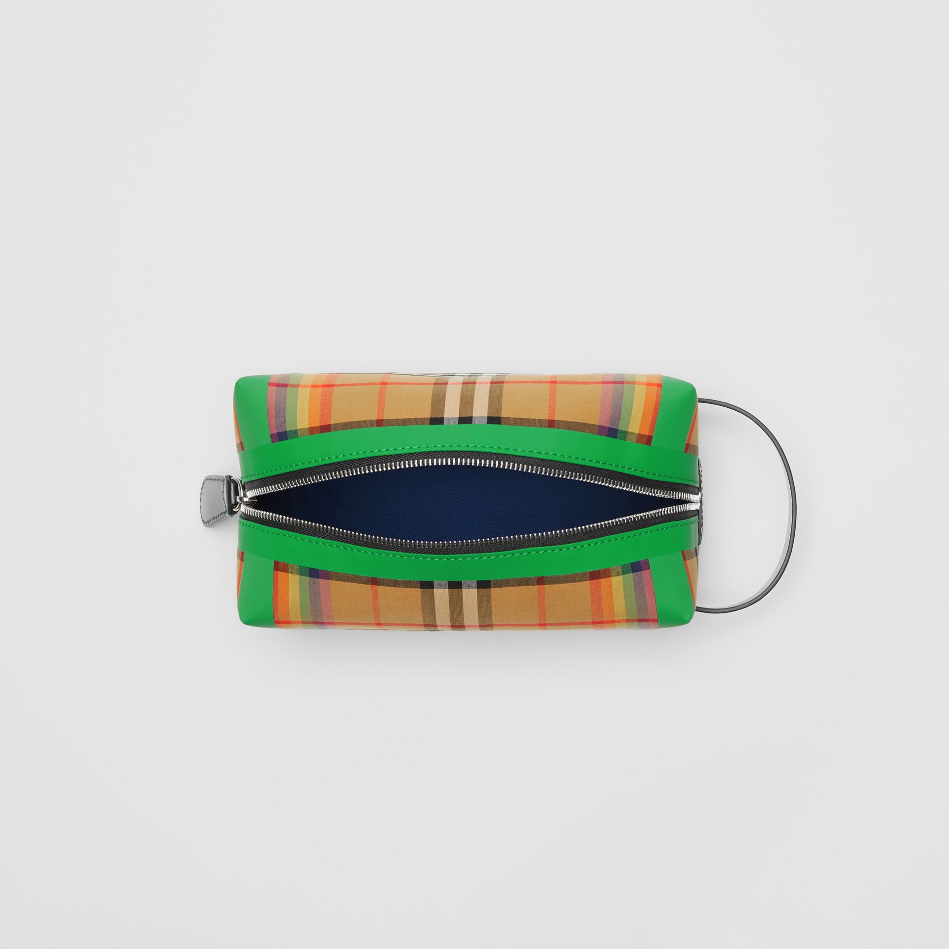 Rainbow Vintage Check Cotton Pouch in Antique Yellow | Burberry - gallery image 4