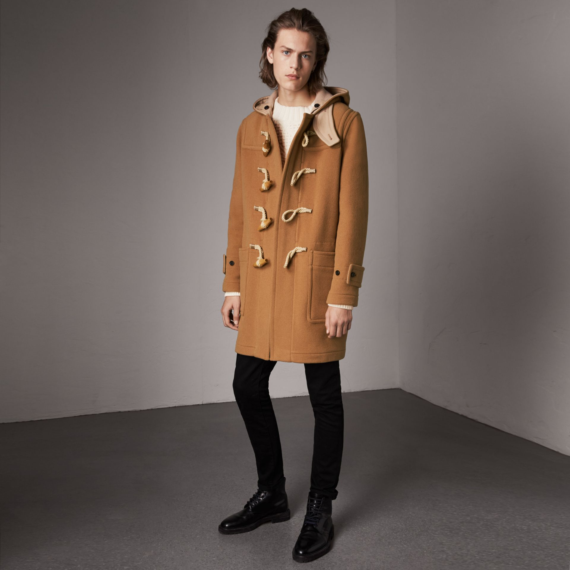 Duffle-coat The Greenwich (Camel Moyen) - Homme | Burberry - photo de la galerie 0
