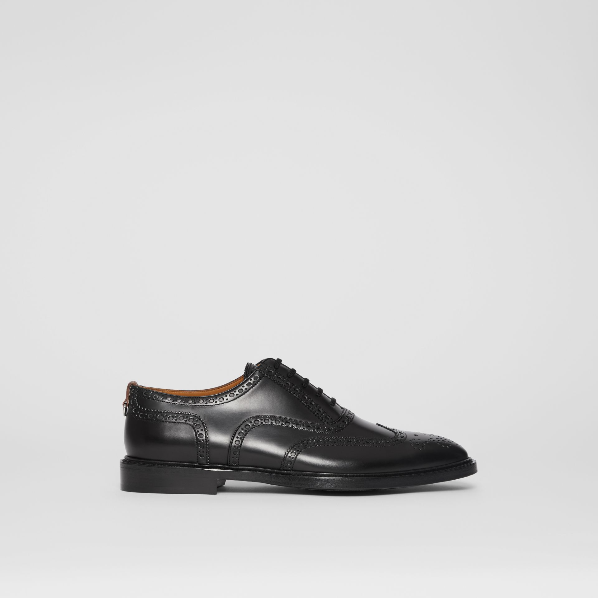 D-ring Detail Patent Leather Oxford Brogues in Black - Men | Burberry - gallery image 4