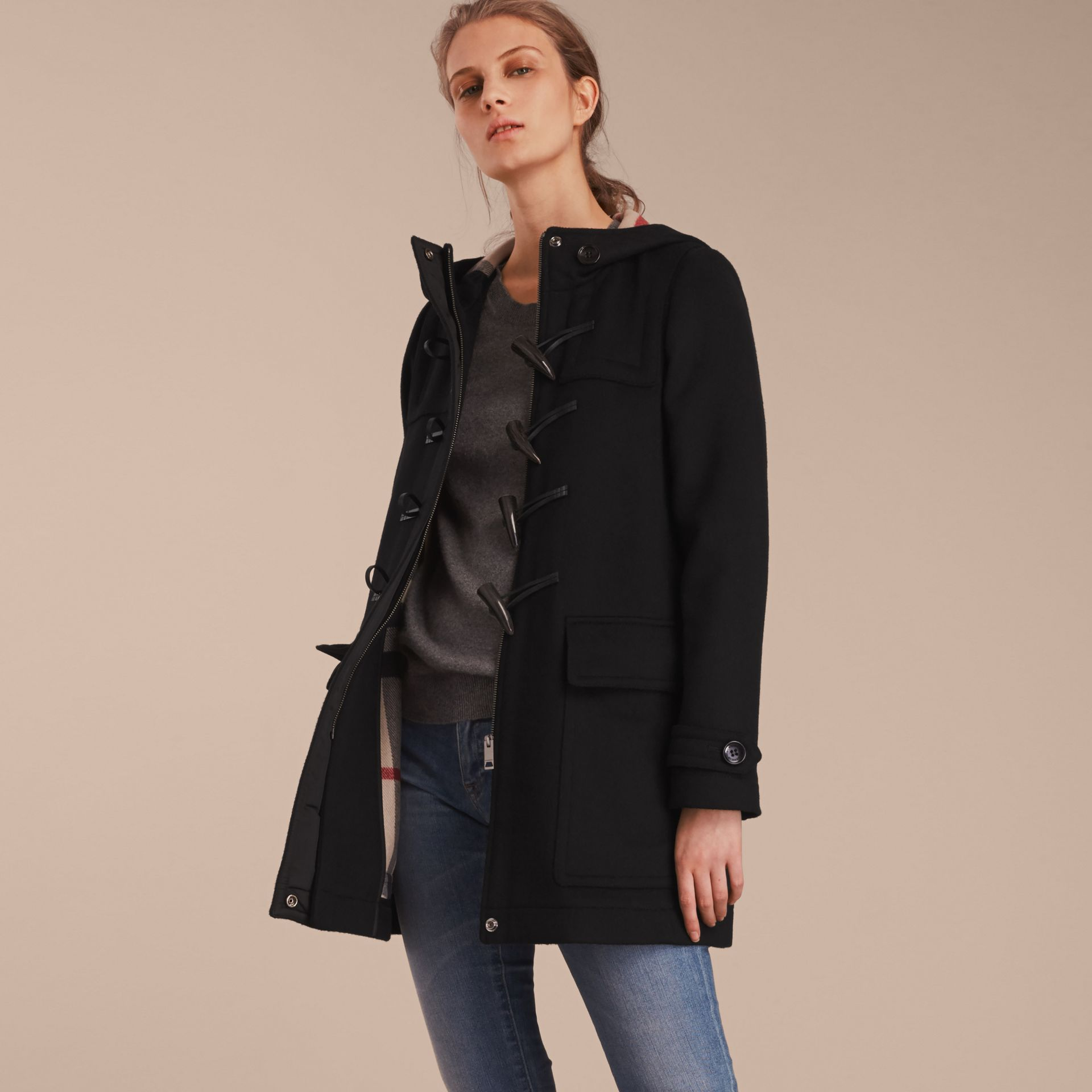 Wool Duffle Coat - gallery image 6