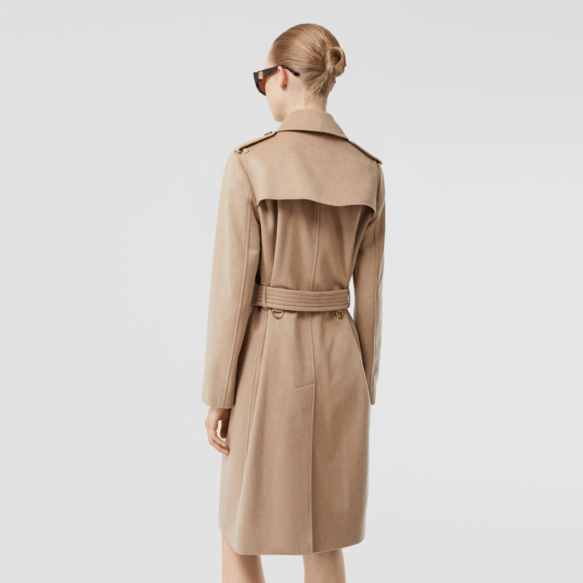 Cashmere Trench Coat in Camel - Women | Burberry Australia - gallery image 2