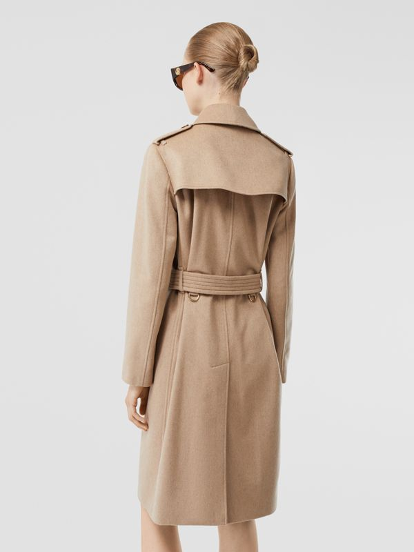 Cashmere Trench Coat in Camel - Women | Burberry - cell image 2
