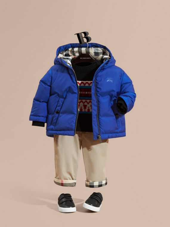 Down-filled Hooded Puffer Jacket Brilliant Blue