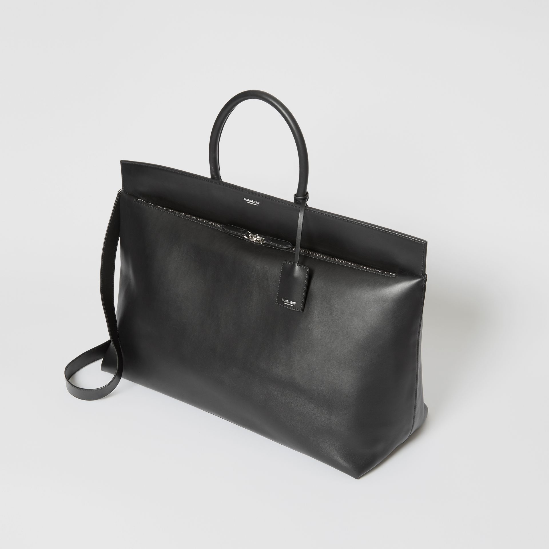 Extra Large Leather Society Top Handle Bag in Black - Men | Burberry - gallery image 2