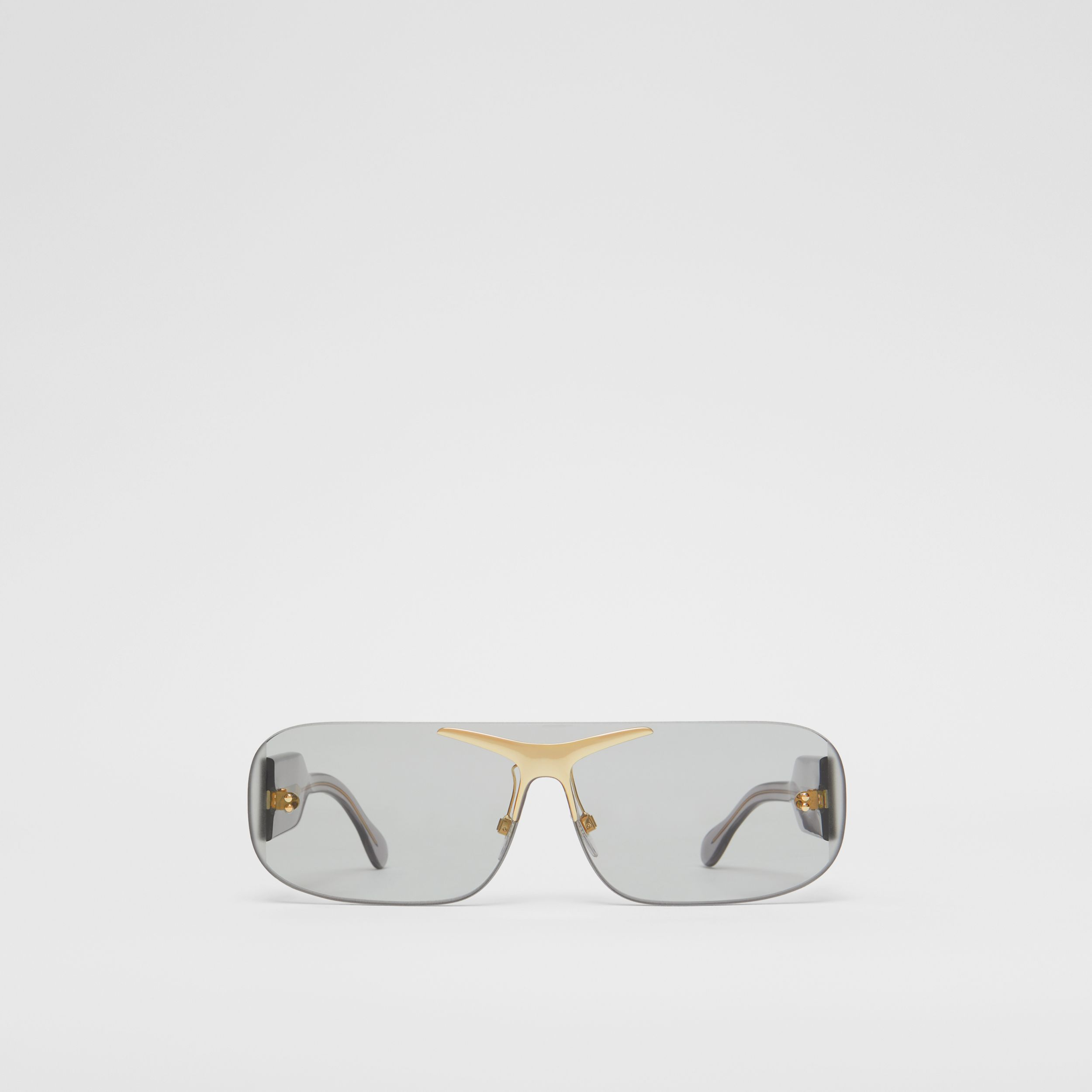 Blake Shield Sunglasses in Light Grey | Burberry - 1