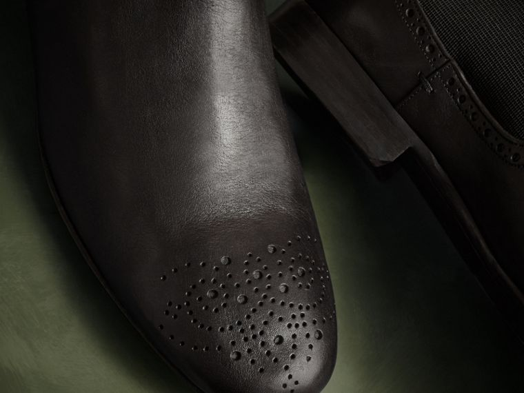 Ebony Washed-leather Chelsea Boots - cell image 1