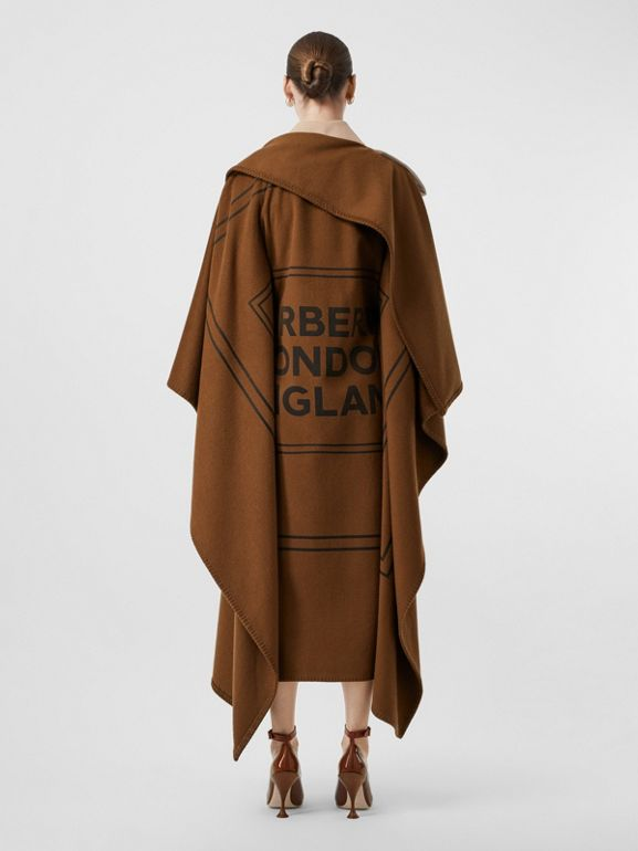 Blanket Detail Cotton Gabardine Trench Coat in Camel - Women | Burberry Australia - cell image 1