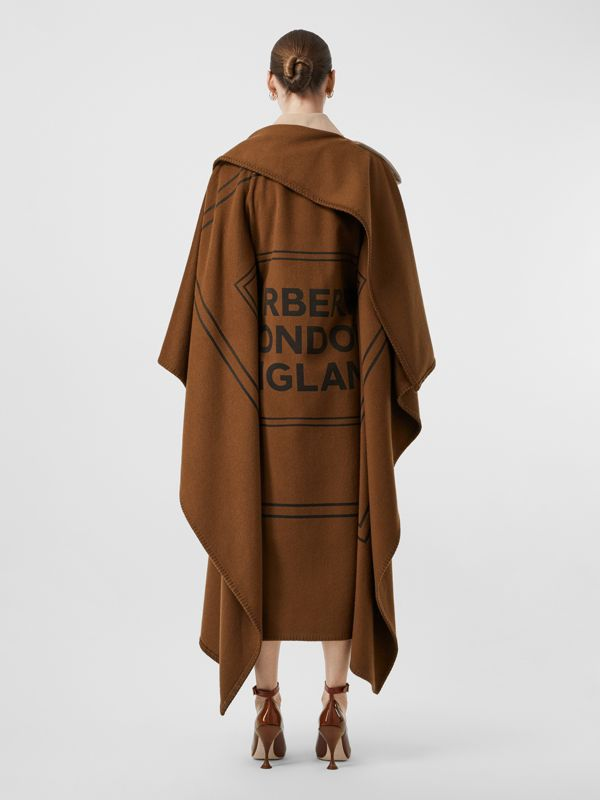 Blanket Detail Cotton Gabardine Trench Coat in Camel - Women | Burberry Singapore - cell image 2