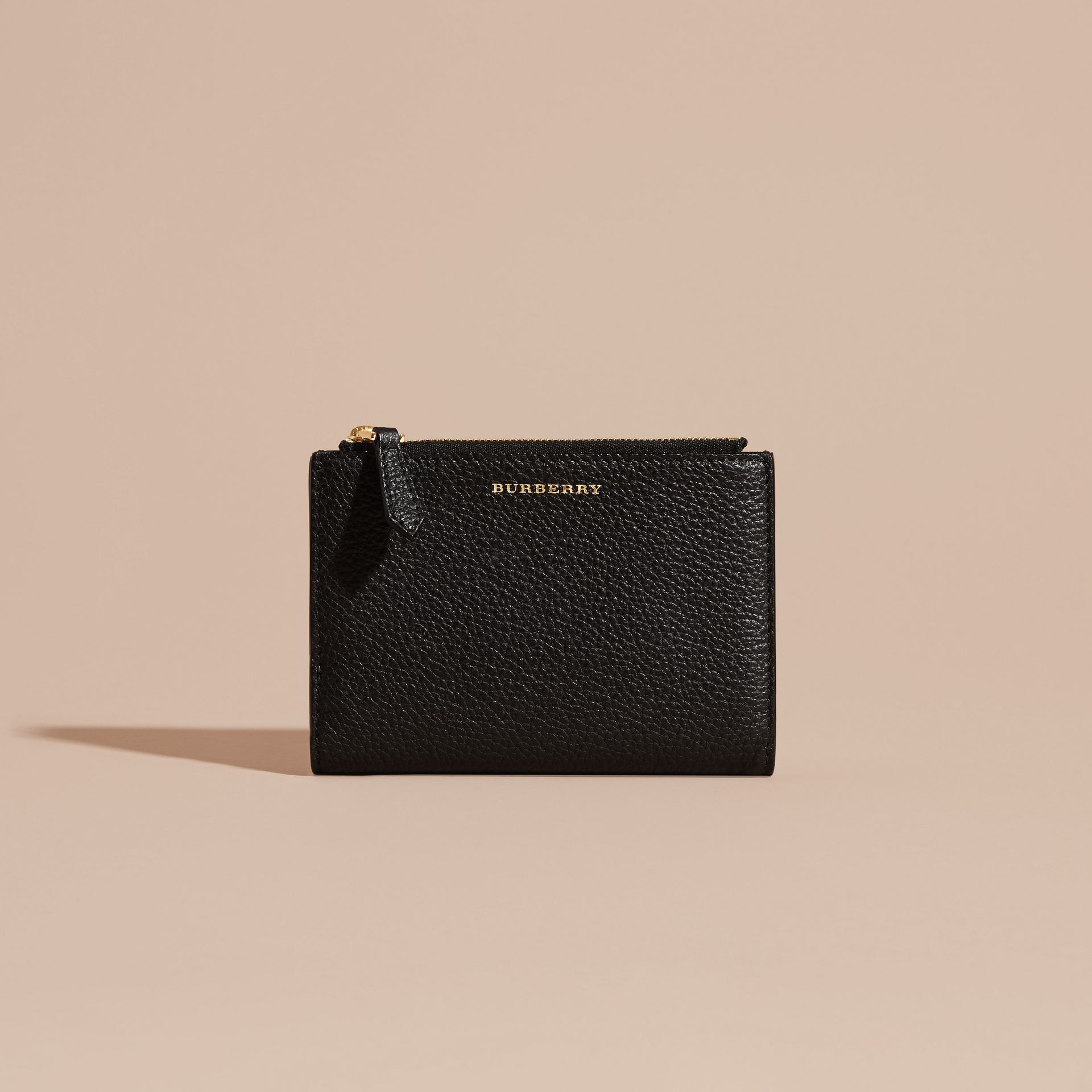 Leather Passport Wallet in Black | Burberry Canada - gallery image 6