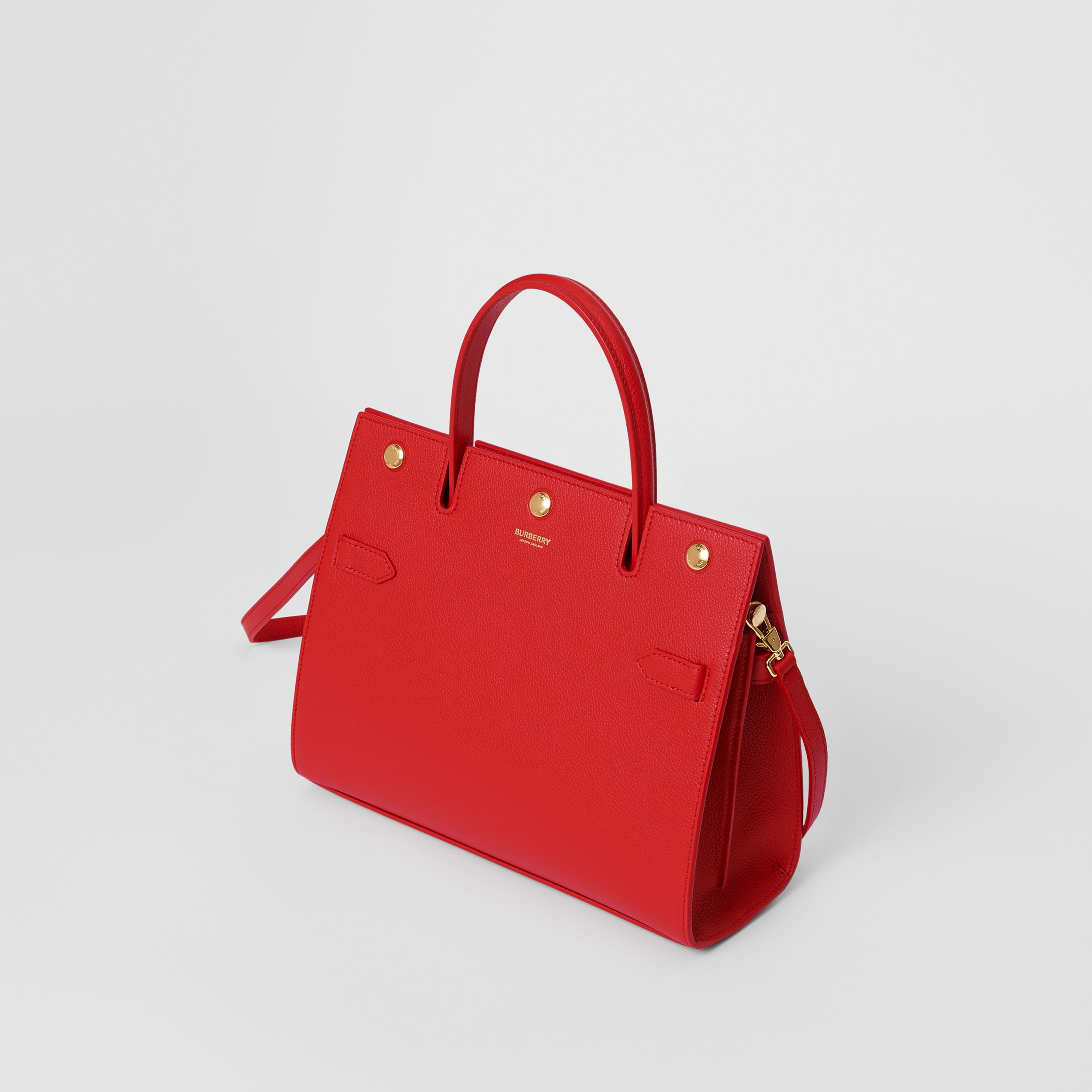 Small Leather Title Bag in Bright Red - Women | Burberry United Kingdom - 4