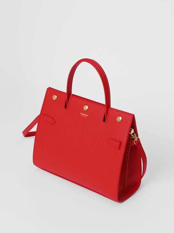 Small Leather Title Bag in Bright Red - Women | Burberry - cell image 3
