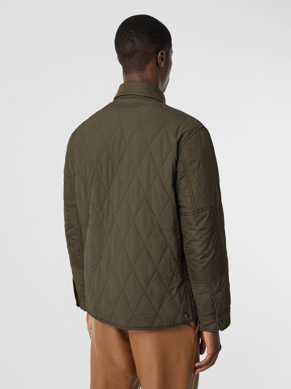 Quilted Nylon Thermoregulated Overshirt in Dark Olive Green - Men | Burberry - cell image 2